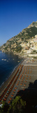 High Angle View of a Beach  Positano  Amalfi  Campania  Italy