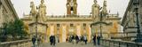 Low Angle View of a Statues in Front of a Building  Piazza Del Campidoglio  Palazzo Senatorio  R