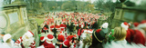 People Dress Up as Santa Claus at the Annual Santacon Event 2010  Central Park  Manhattan  New Y
