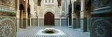Interiors of a Medersa  Medersa Bou Inania  Fez  Morocco