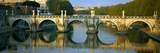 Arch Bridge across a River  Ponte Sant Angelo  Tiber River  Rome  Italy