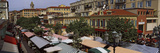 High Angle View of a Market  Cours Saleya  Nice  Alpes-Maritimes  Provence-Alpes-Cote D&#39;Azur  Fr