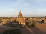 Temples and Stupas at Dusk  Bagan  Mandalay Region  Myanmar