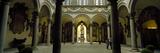 Courtyard of a Palace  Palazzo Medici Riccardi  Florence  Tuscany  Italy