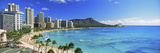 Palm Trees on the Beach  Diamond Head  Waikiki Beach  Oahu  Honolulu  Hawaii  USA