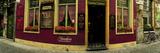 Facade of a Restaurant  Patershol  Ghent  East Flanders  Flemish Region  Belgium