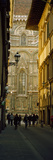 Tourists on Via Dei Servi with Florence Cathedral in the Background  Florence  Tuscany  Italy