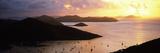 Sunrise over Sailboats at Harbor  Coral Bay  St John  Us Virgin Islands