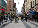 People on a Street  Drottninggatan  Stockholm  Sweden
