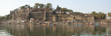 Rajarajeshwara Temple and Ahilya Fort at the Narmada River  Maheshwar  Khargone  Madhya Pradesh