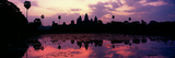 Silhouette of a Temple at Dusk  Angkor Wat  Siem Reap  Angkor  Cambodia