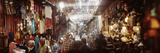 Tourists at a Market Inside the Medina in Marrakesh  Morocco