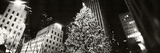 Christmas Tree Lit Up at Night  Rockefeller Center  Manhattan  New York City  New York State  USA