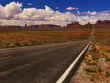 Road Passing Through a Valley  Monument Valley  San Juan County  Utah  USA