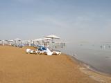 Umbrellas on the Beach  Dead Sea  State Road 90  Israel