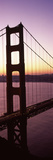 Suspension Bridge at Sunrise  Golden Gate Bridge  San Francisco Bay  San Francisco  California  USA