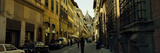 Cars Parked in a Street with a Cathedral in the Background  Via Dei Servi  Duomo Santa Maria Del