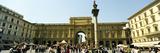 Tourists at a Town Square  Piazza Della Repubblica  Lazio  Rome  Italy