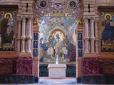 Interiors of a Church  Church of the Savior on Blood  St Petersburg  Russia