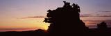Silhouette of Cliffs at Sunset  Fantasy Canyon  Uintah County  Utah  USA