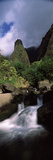 Stream Flowing Through a Valley  Iao Valley  Iao Needle  Wailuku  Maui  Hawaii  USA