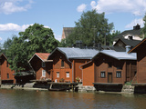 Huts at the Riverside  Porvoonjoki River  Porvoo  Finland