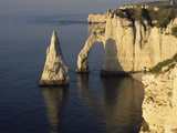 Rock Formations in the Sea  Etretat  Seine-Maritime  Haute-Normandy  France
