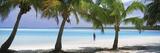 Woman in Sarong on the Beach  One Foot Island  Aitutaki  Cook Islands