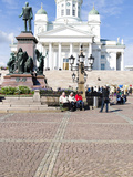 Tourists at a Cathedral  Helsinki Lutheran Cathedral  Helsinki  Finland