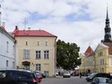 Street Scene and St Alexander Nevski Cathedral  Toompea  Tallinn  Estonia