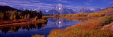 Reflection of Mountains in the River  Mt Moran  Oxbow Bend  Snake River  Grand Teton National Pa