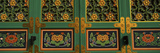 Paintings on the Door of a Buddhist Temple  Kayasan Mountains  Haeinsa Temple  Gyeongsang Provin
