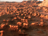 Scenic Rock Sculptures at Goblin Valley State Park  Utah  USA