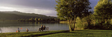People in a Park at the Lakeside  Keutschacher See Lake  Carinthia  Austria