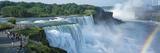 Tourists at a Waterfall  Niagara Falls  Niagara River  Niagara County  New York State  USA