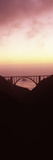 Silhouette of a Bridge at Sunset  Bixby Bridge  Big Sur  California  USA