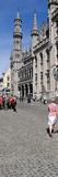 Tourists at a Market  Bruges  West Flanders  Belgium