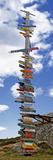 Sign Post Showing Distances to Various Countries  Stanley  Falkland Islands