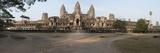 Facade of a Temple  Angkor Wat  Angkor  Cambodia