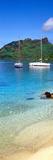 Sailboats in the Ocean  Tahiti  Society Islands  French Polynesia