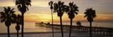 Silhouette of a Pier  San Clemente Pier  Los Angeles County  California  USA