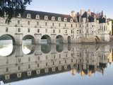 Reflection of a Castle in a River  Chateau De Chenonceau  Indre-Et-Loire  Loire Valley  Loire Ri