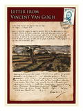 Letter from Vincent: Road with Pollarded Willows