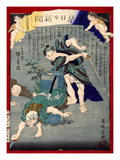 Ukiyo-E Newspaper: Burglars Was Put to Rout by a Skilled Sword