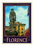 Statue of David  Piazza Della Signoria  Florence Italy 3