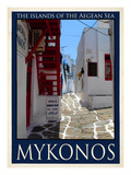 Alleyway in Mykonos Greece 4