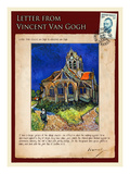 Letter from Vincent: Church at Auvers  C1890