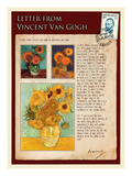 Letter from Vincent: Sunflowers in a Vase
