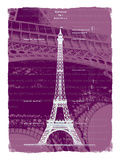 White Eiffel Tower Paris in Rosy