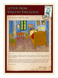 Letter from Vincent: Vincent&#39;s Bedroom in Arles